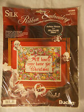 Bucilla Silk Ribbon Embroidery All Hearts Come Home Christmas Kit 83305