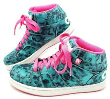 OSIRIS Convoy Womens 8 Skateboarding Athletic Sneaker Lace-Up Green Pink Mid Top