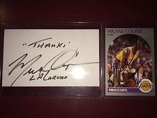 Michael Cooper fmr Los Angeles Lakers & WNBA coach basketball auto autograph LOT
