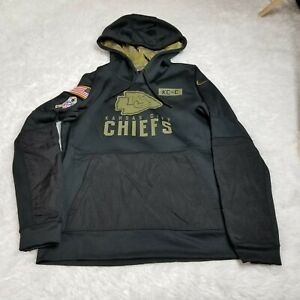 Nike Dri-Fit Kansas City Chiefs Salute To Service Womens Hoodie Sweatshirt M