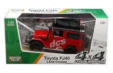 TOYOTA FJ40 FJ 40 LAND CRUISER 4X4 OVERLANDERS RED 1:24 BY MOTORMAX 79137