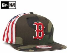 New Era 9Fifty Boston Red Sox Camo Snapback Hat American USA Flag Side MLB Cap