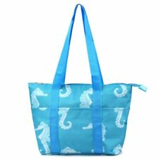Large Women Insulated Lunch Handbag Tote Travel Shopping Carry Bag Seahorse
