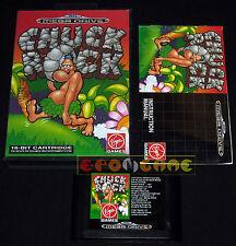 CHUCK ROCK MegaDrive MD Mega Drive Versione Europea PAL ••••• COMPLETO