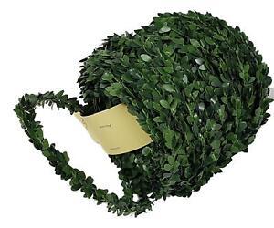 (0,48€/m) 30m Buchsbaum Girlande Grüngirlande für Fische Kreuze Buchs Tischdeko