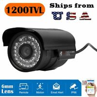 1200TVL HD Color Outdoor CCTV Surveillance Security Camera 36 IR Day Night Video