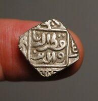 I18-28    Sultans of Delhi, Qutb al-din Mubarak, Silver (Billon) coin, AH 718