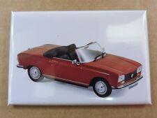 Magnet Aimant Frigo Peugeot 404 Cabriolet Rouge Long 78 mm Haut 54 mm Neuf
