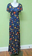 "Vintage 1970'S Polyester Floral Maxi Dress / 36"" Bust"