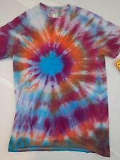 Adult 2021 Handmade Goparel Tie Dyed with Real Dye Classic Cotton T-Shirt Size S