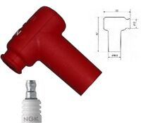 NGK Spark Plug Cap LB05EMH-R  Resistor Cover (Red) 90º LB05EMHR  (8160)