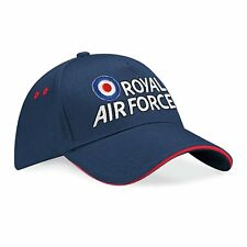 RAF Embroidered Sandwich Baseball Cap - Royal Air Force Logo Licenced Hat