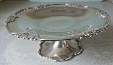 More details for antique sterling silver tazza dish - elkington & co - hallmark birm 1929 - 268gr