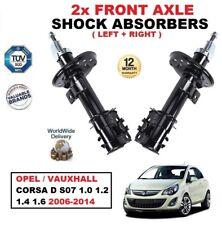 Delantero Izquierdo + Derecho Amortiguadores Set para Opel Corsa D S07 2006-2014