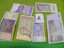 Lot of 6 World Banknotes... includes 6 Genuine World Banknotes ,New & Used.(A).