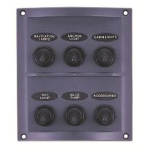 Marine 6 Gang Switch Panel 12V WATERPROOF /Boat / Yacht