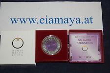 25 Euro Niob  Silber 50 Jahre Fernsehen 2005  -----  Eiamaya