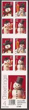 Sc# 3687b 37 Cent Chrstmas Snowmen (2002) MNH BP/20 P# S2222 SCV $25.00