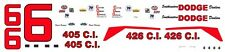 #6 David Pearson Southeastern Dodge Dealers 1965 1/24th - 1/25th Scale Decals