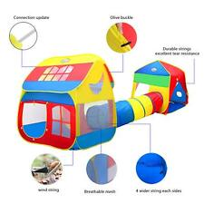 X Large Pop Up Children Play House w/ Tunnel Kids Play Hut Tent 12+ Feet Sealed