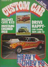 Custom Car magazine 02/1973 featuring Mazda RX3, Fiat