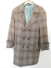 Fiora  Men Wool Coat Size XL or 40 Mixed Brown Color