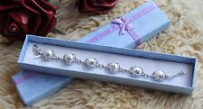 NATURAL FRESHWATER PEARL MOTHER'S DAY JUNE BIRTHDAY GIFT IDEAS BRACELET +GIFTBOX