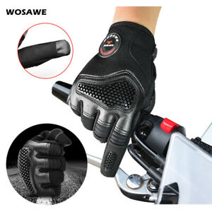 Motorcycle Gloves Warm Cycling Full Finger MTB Bike Windproof Mitts Touch Screen