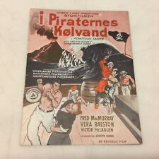 Fair Wind to Java Fred MacMurray Vera Ralston McLaglen 1953 Danish Movie Program