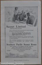 1912 SOUTHERN PACIFIC RR advertisement, Sunset Limited, observation car