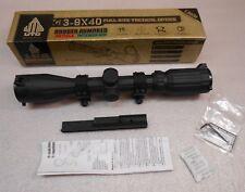UTG 3-9x40  Full Size Tactical Optics Mil-Dot SPC-394FDRL3-A Rifle Scope - c381