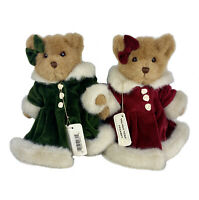 (2) Jerry Elsner Velvet Touch Vanessa Jointed Teddy Bear Plush Stuffed Toys