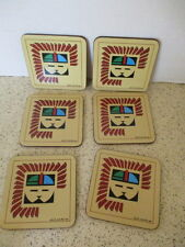 "6 Coasters,""Kachina&#0 34;, Cork Back, Pimpernel Of England, Original Box, Nos"