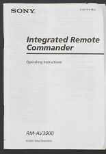 Sony rm-av3000 original Remote comandante manual de instrucciones/User Manual (GB)
