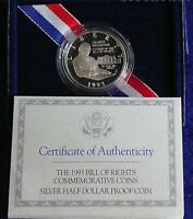 1993 S Bill of Rights Proof Half Dollar James Madison SILVER Coin with Box COA
