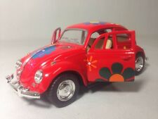 1967 Classic Volkswagen VW Beetle 1:32 Diecast Pull Back To Go Toys Red Printing