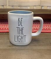 Rae Dunn by Magenta - BE THE LIGHT - LL Blue Interior Ceramic Coffee Tea Mug