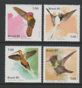 Brazil - 1981, Hummingbirds set - MNH - SG 1895/8