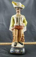 "Jim Beam Decanter By Regal China 1980 Matador 15"" Tall"