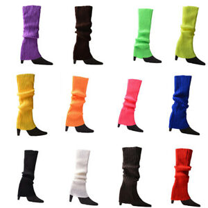 Women Winter Warm Slouch Knit High Knee Leg Warmers Crochet Leggings Boot Socks