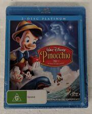 PINOCCHIO Blu-ray + DVD 2-DISC Region B + C oz seller Walt Disney