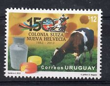 Swiss colony 150 aniv. Cow cheese milk dairy products URUGUAY MNH STAMP