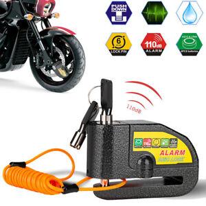Motorcycle Scooter Bike Security Disc Brake Handlebar 110dB Alarm Lock 2 Keys AU