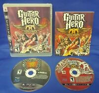 Guitar Hero Aerosmith + Warriors Game Lot PS3 Sony Playstation 3 Works