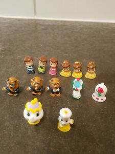 Squinkies Disney Princess Beauty and the Beast lot of 13