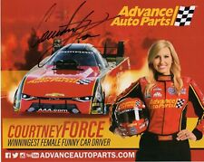 COURTNEY FORCE HAND SIGNED 8x10 COLOR PHOTO+COA           BEAUTIFUL NHRA DRIVER