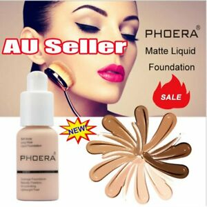 PHOERA Soft Matte Full Coverage Liquid Foundation Concealer Longlasting DM AU