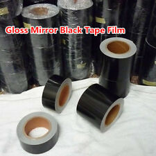 High Gloss Black Vinyl Tape Adhesive Car Wrap Sticker DIY Decal Bubble Free