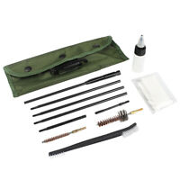 11Pcs 22LR 223 257 556 Rifle Gun Cleaning Kit Cleaning Rod Nylon Brush Fit Pouch