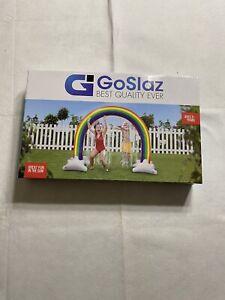 GoSlaz Inflatable Rainbow Sprinkler Toy - Kids Sprinklers for Outside - Fun O...